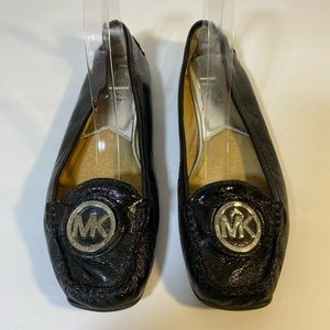 Michael Kors soft black leather loafers women 7.5